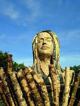 Dame van het bos